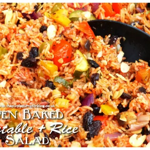 Oven-baked Vegetables & Rice Salad