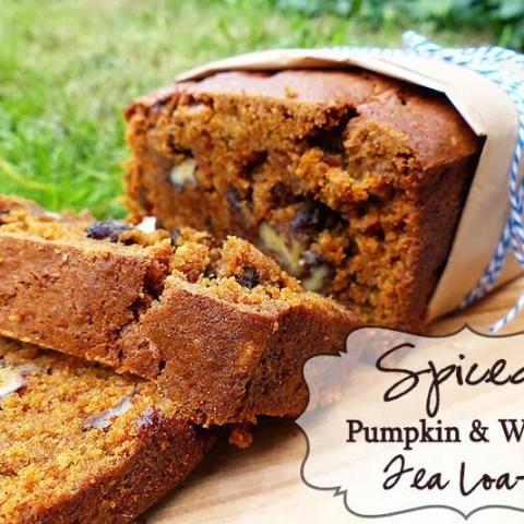Spiced Pumpkin & Walnut Tea Loaf