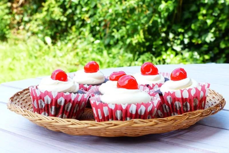 Cherry Coca-Cola Cupcakes
