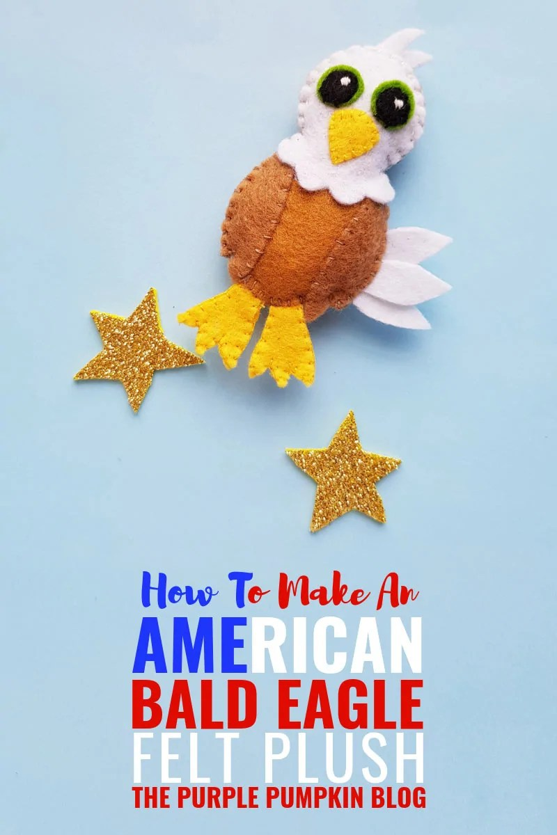 How to make an American Bald Eagle Felt Plush