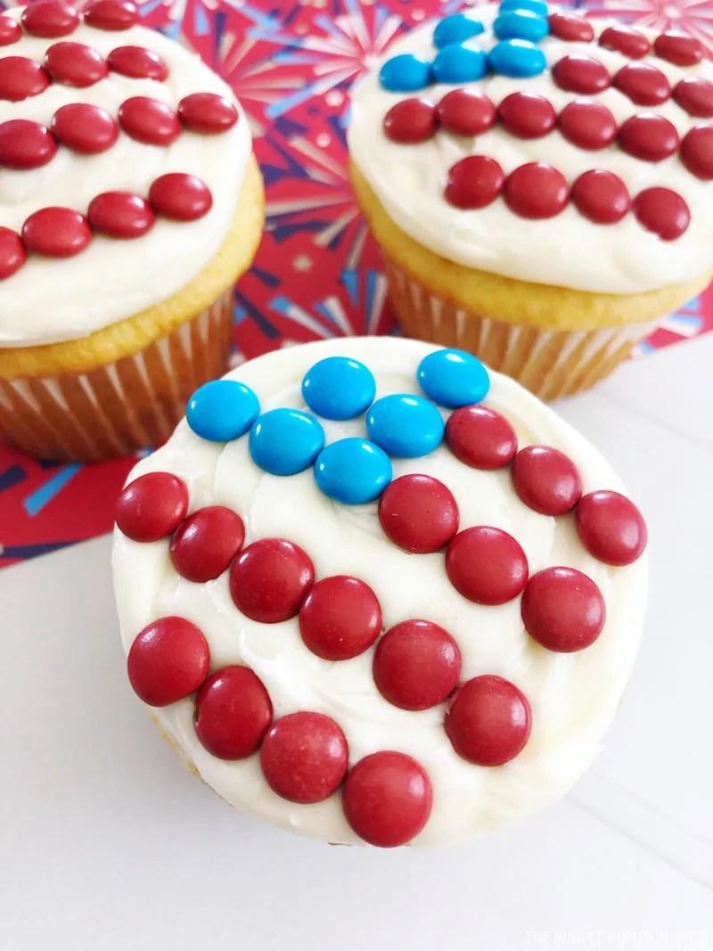 Patriotic American Flag Cupcakes