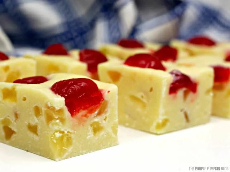 Pineapple Upside Down Cake Fudge Recipe