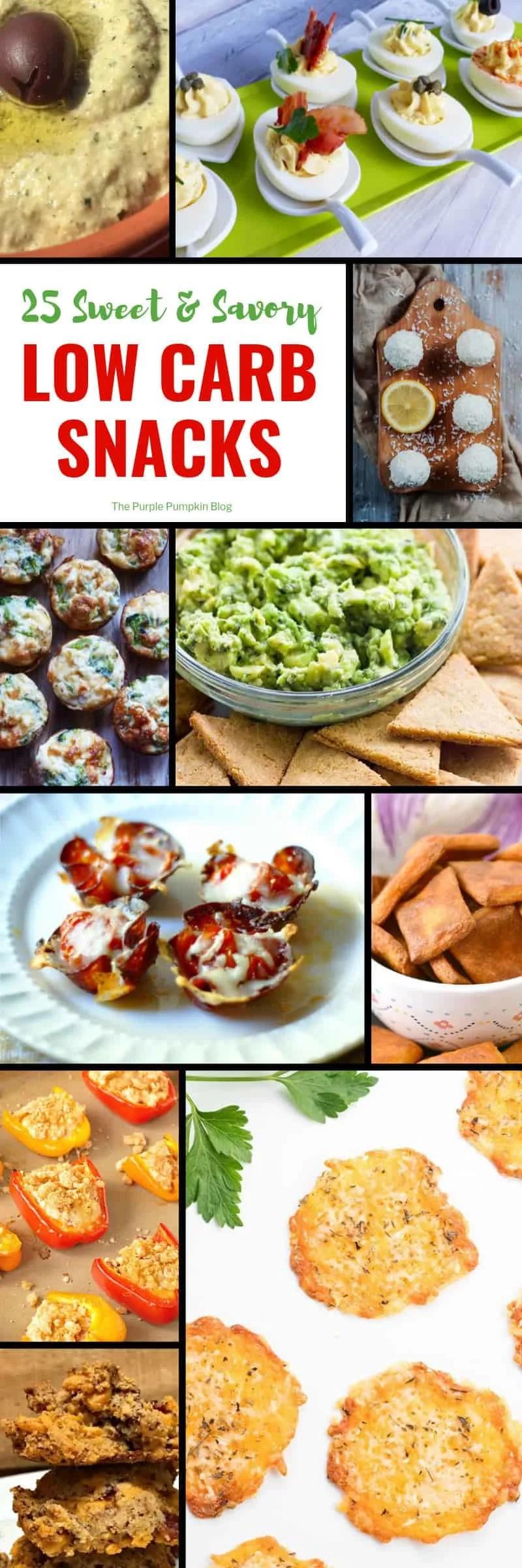 25 Sweet & Savory Low Carb Snacks