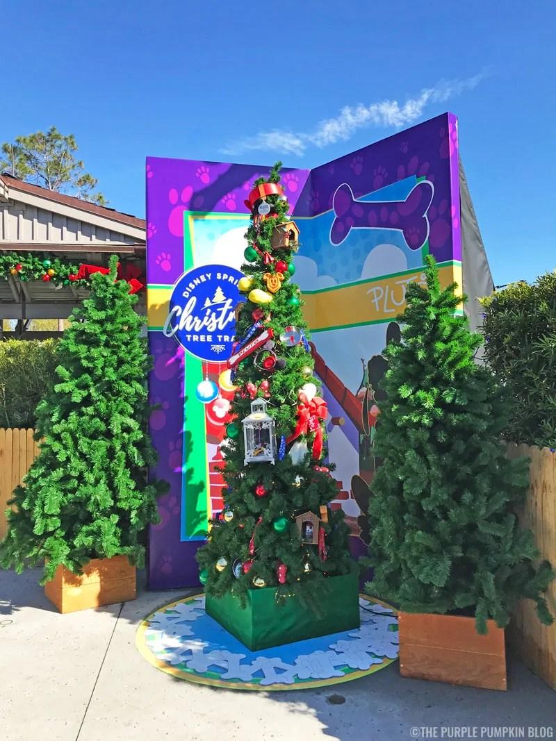 Pluto Christmas Tree at Disney Springs