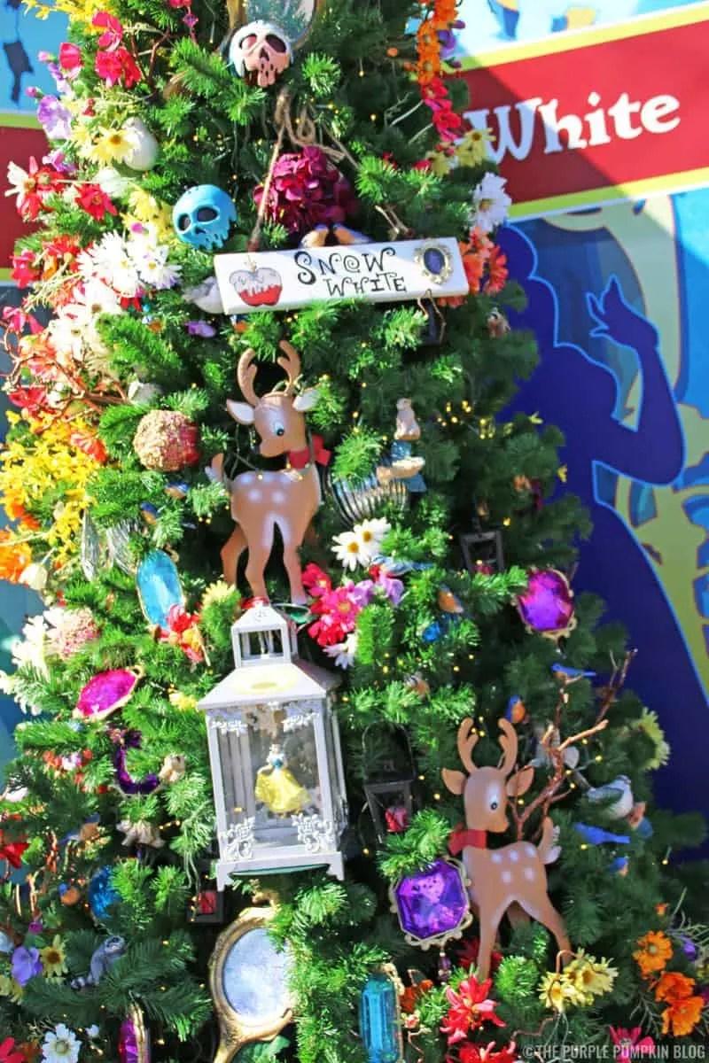 Snow White Christmas Tree at Disney Springs Christmas Tree Trail