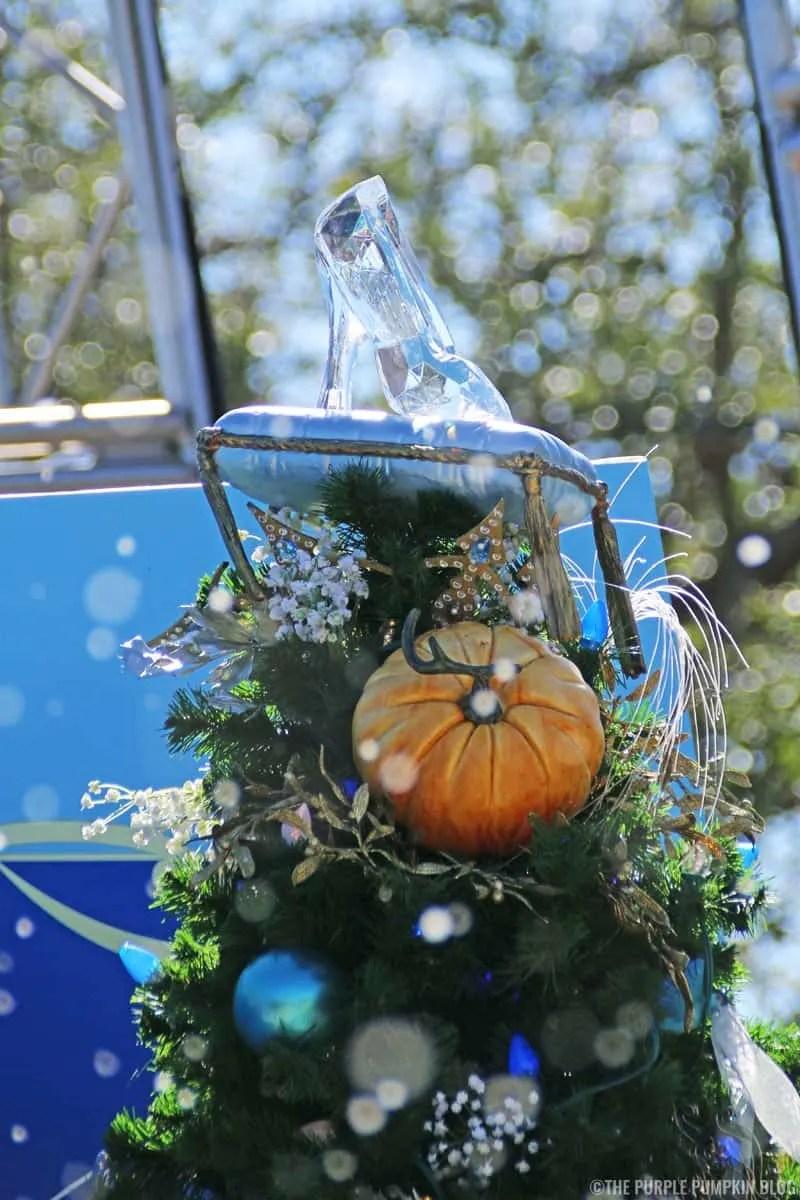 Glass Slipper on Cinderella Christmas Tree