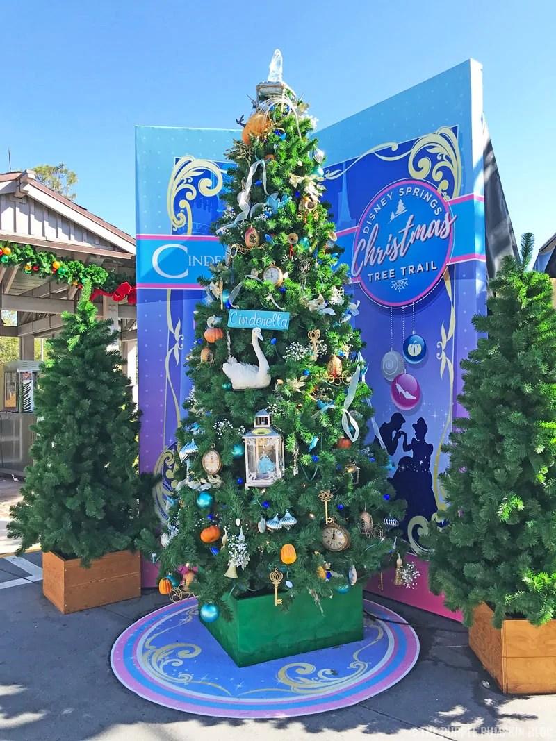 Cinderella Christmas Tree at Disney Springs Christmas Tree Trail.
