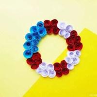 Paper Flower Wreath Tutorial