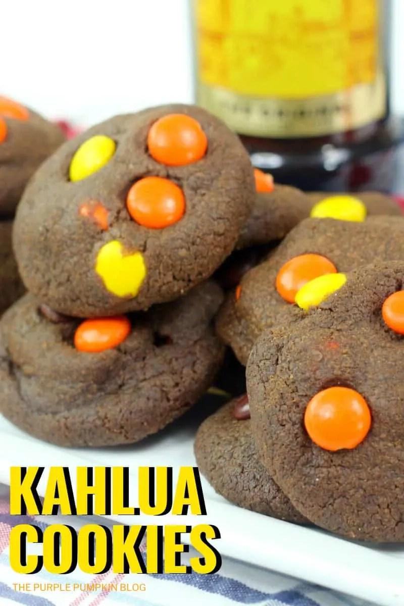 A plate of Kahlua Cookies