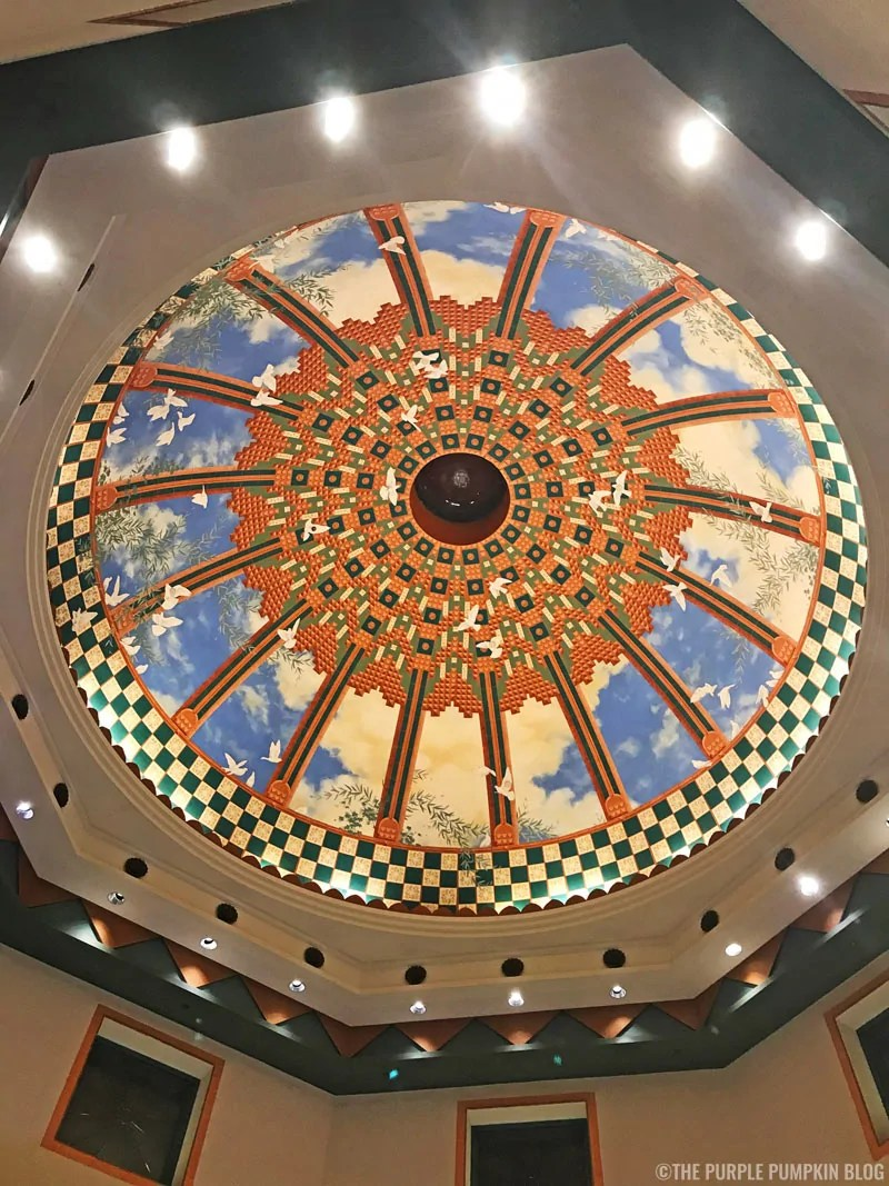 Stunning Domed Ceiling in Coronado Springs Lobby