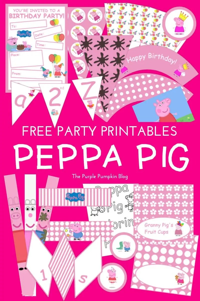 It's just a picture of Witty Peppa Pig Character Free Printable Images