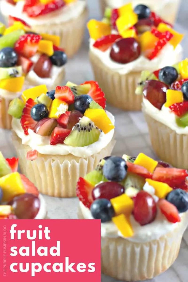 Fruit Salad Cupcakes