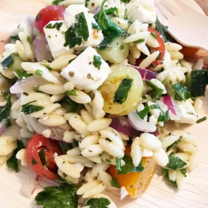 Greek Orzo Salad with Feta Recipe