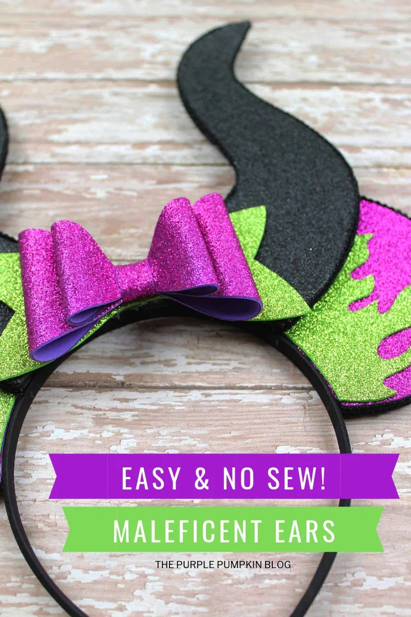 Easy No Sew Maleficent Ears