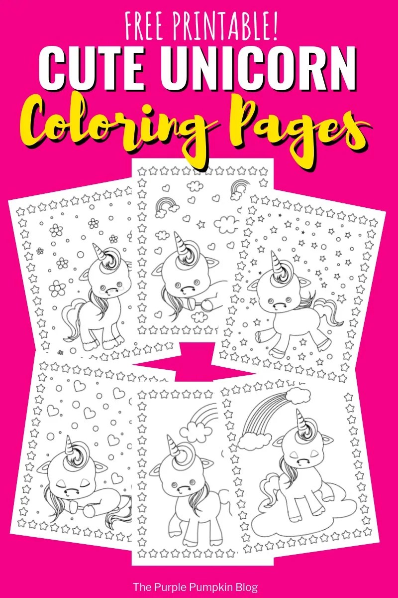 Free Printable Unicorn Coloring Book | Unicorn Colouring Pages