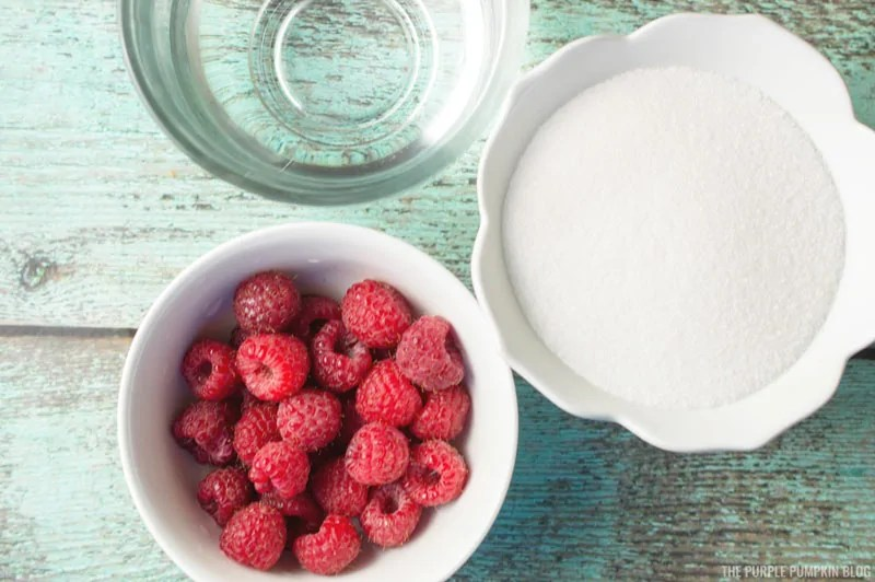 Raspberry Simple Syrup Ingredients