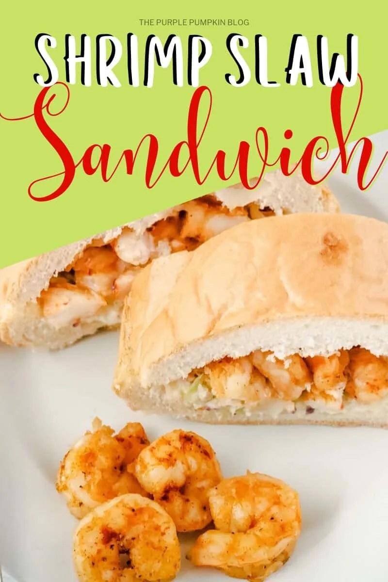 Shrimp slaw sandwich with garlic lemon aioli
