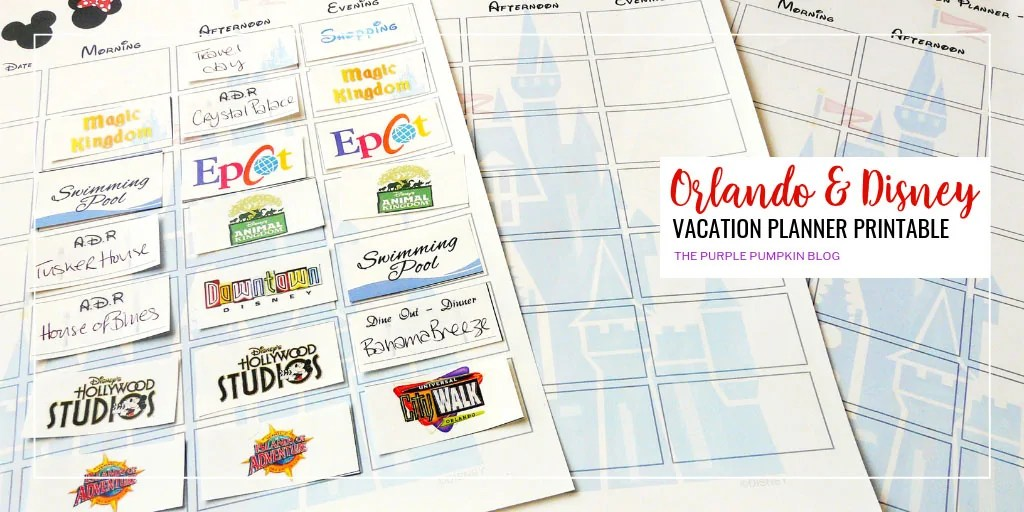 FREE PRINTABLE Walt Disney World + Orlando Vacation Planner - Week-To-View Calendar and + 150+ Labels! This is the motherload of Disney planners! #WaltDisneWorld #Planning