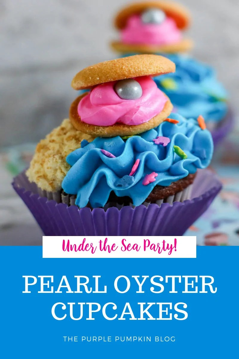 Under the Sea Party! Pearl Oyster Cupcakes