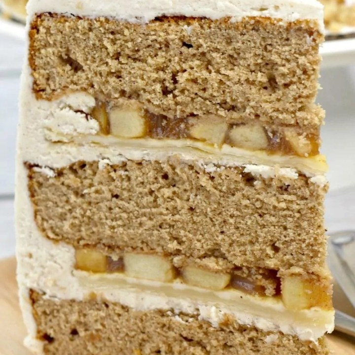 A slice of apple pie layer cake