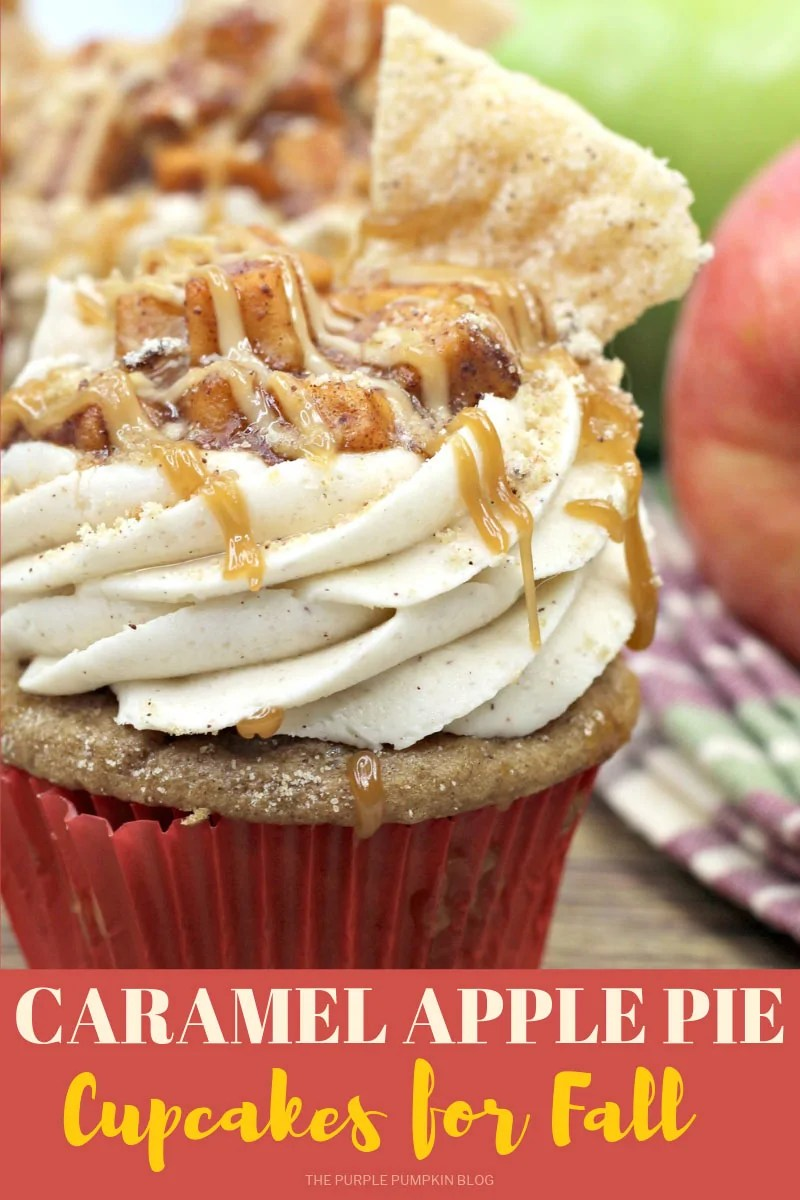 Caramel Apple Pie Cupcakes for Fall