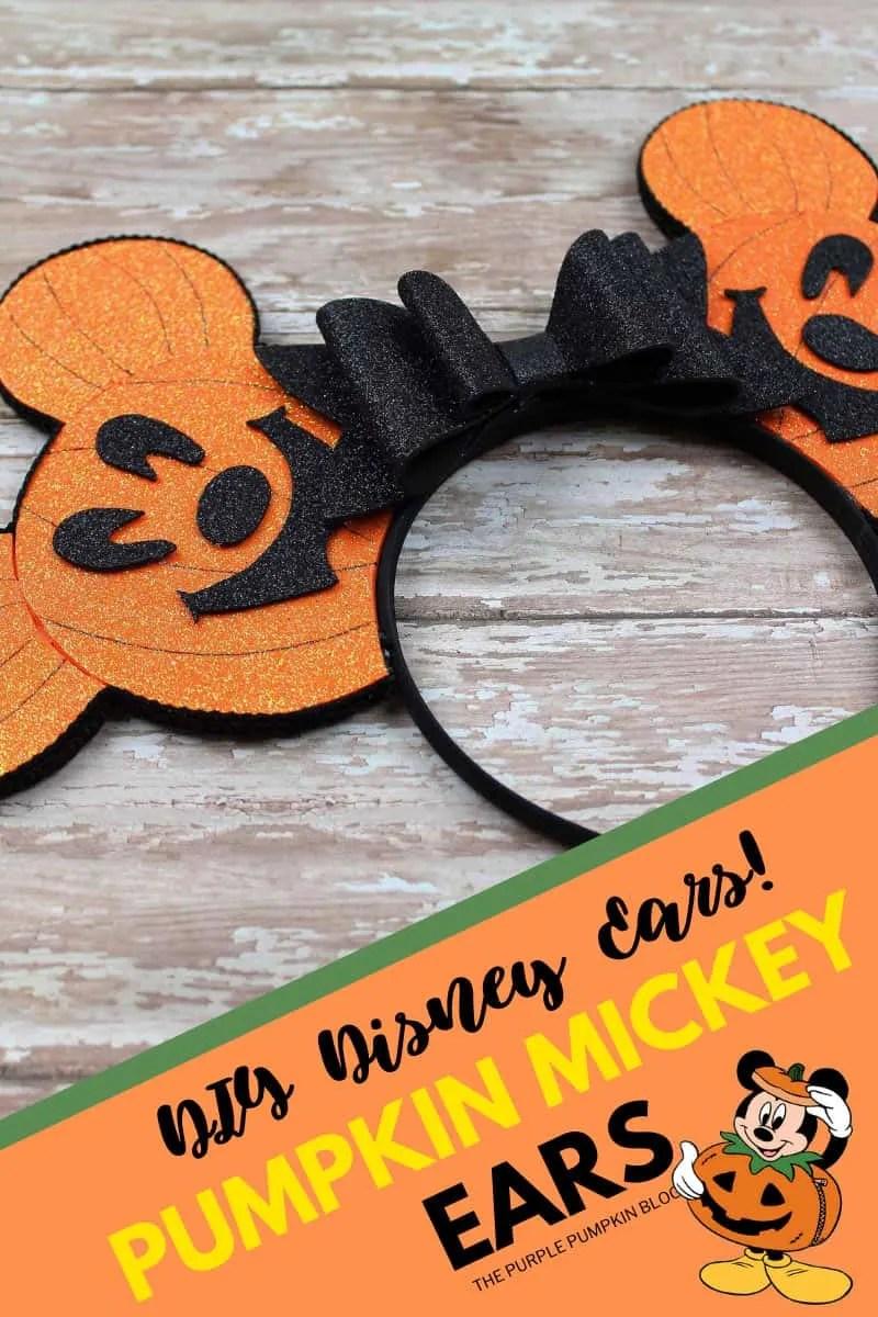 DIY Disney Ears - Pumpkin Mickey Ears