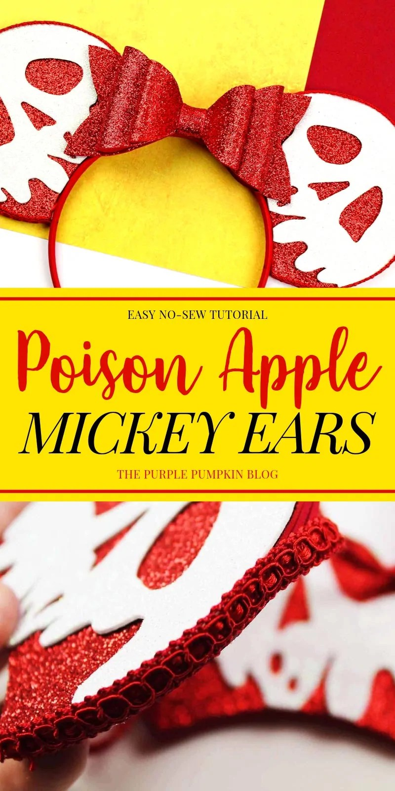 Easy No sew Tutorial Mickey Ears - Poison Apple