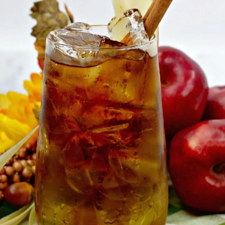 Apple Cider Dark and Stormy Cocktail