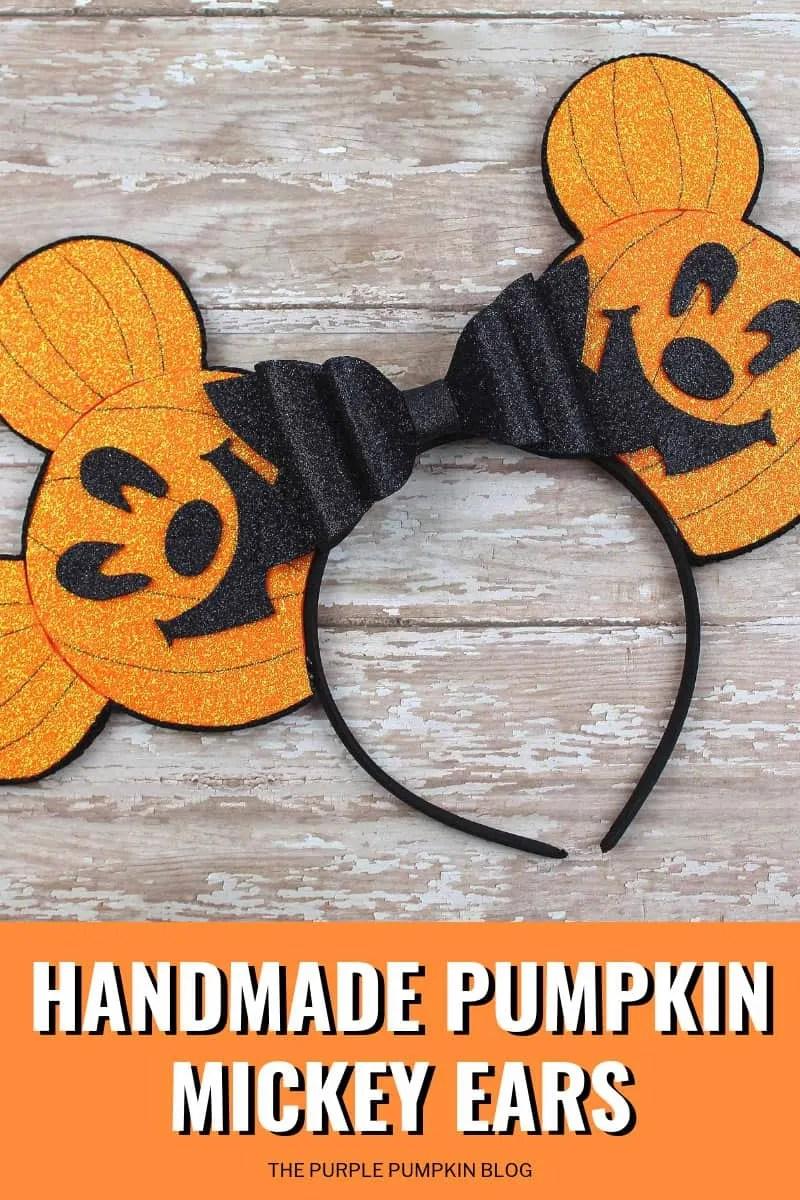 Handmade Pumpkin Mickey Ears