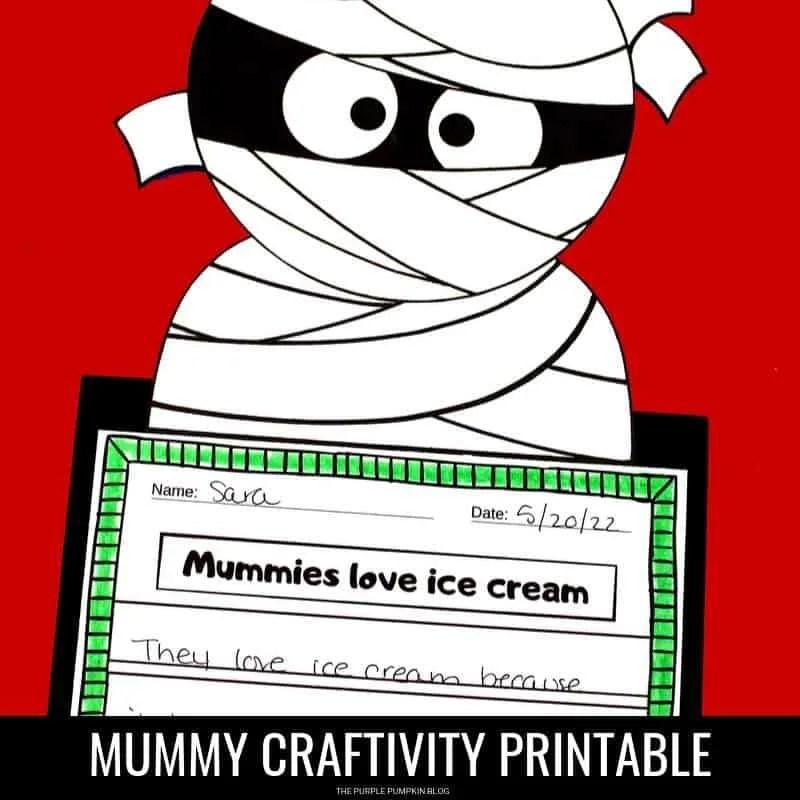 Mummy printable craftivity