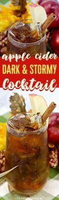 Apple Cider Dark & Stormy Cocktail