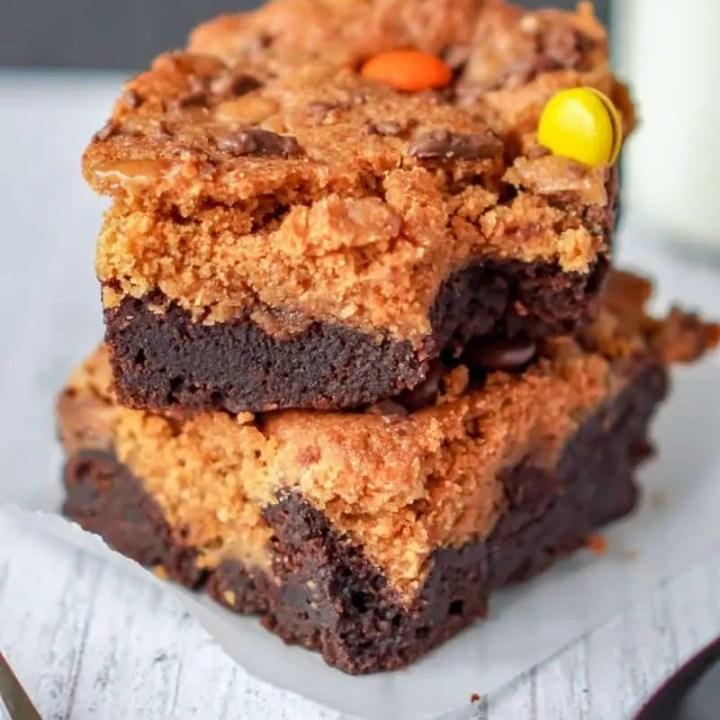 Peanut Butter Pumpkin Brownies Recipe