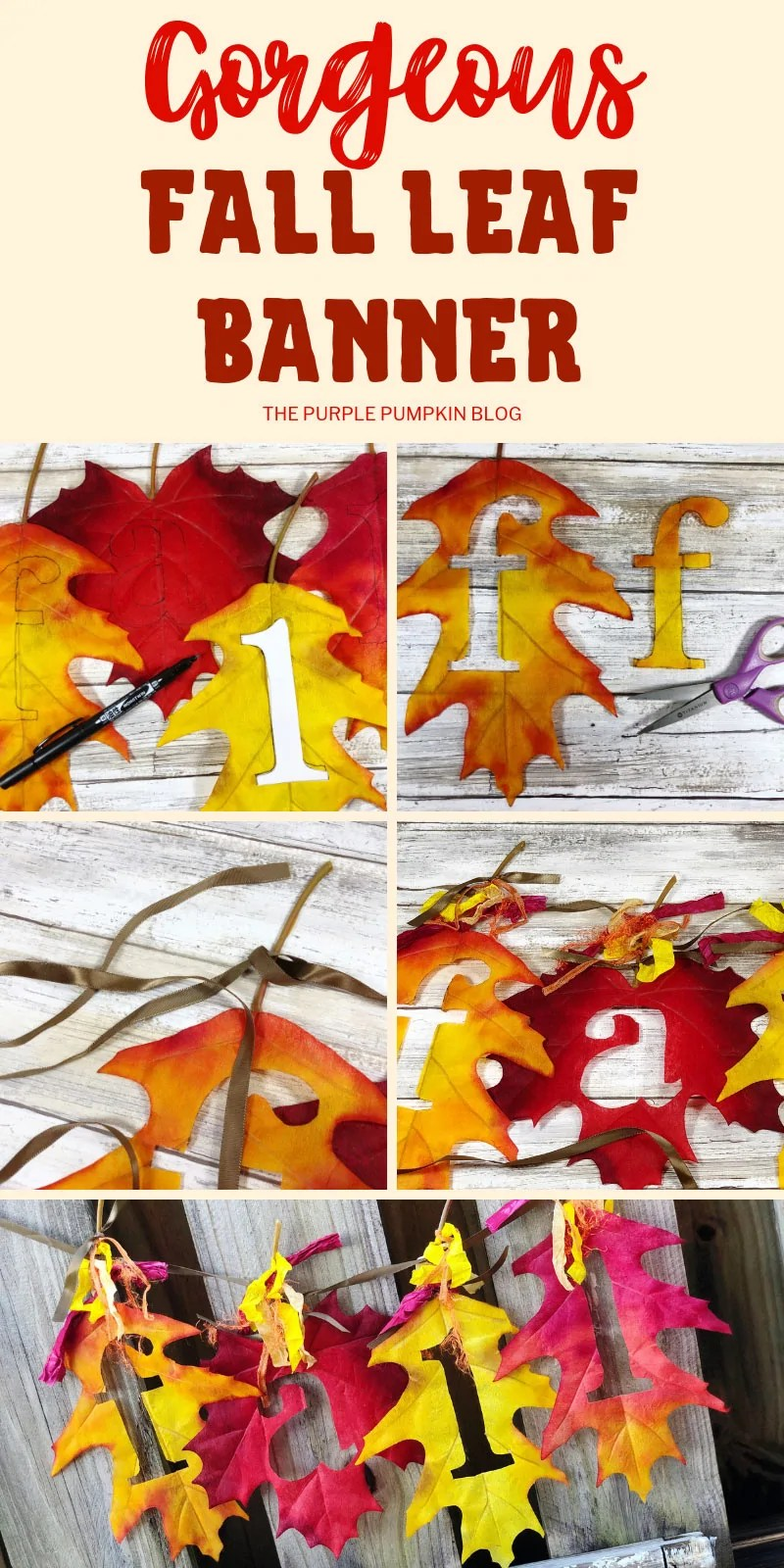 Gorgeous Fall Leaf Banner
