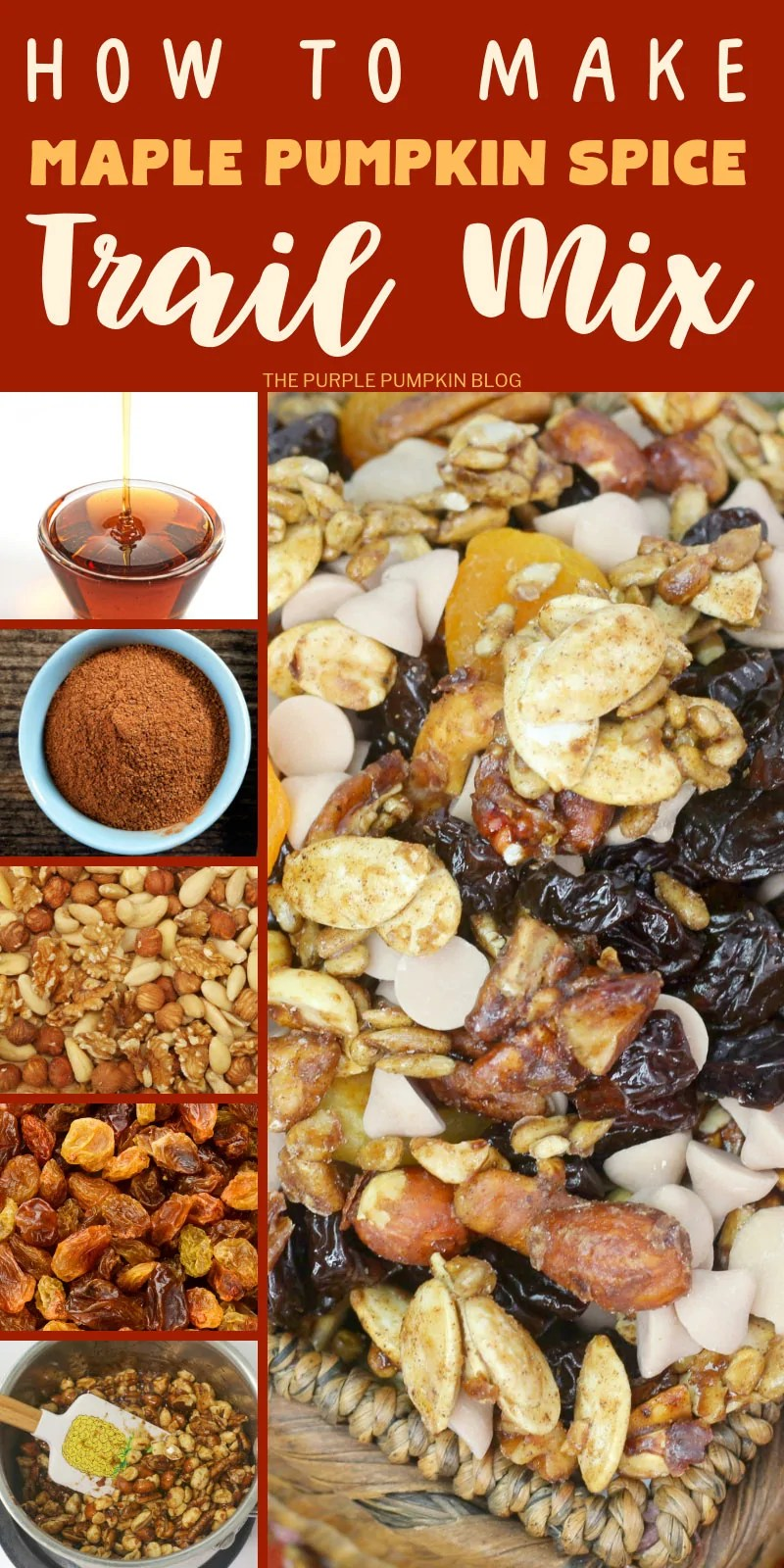 how to make maple pumpkin spice trail mix