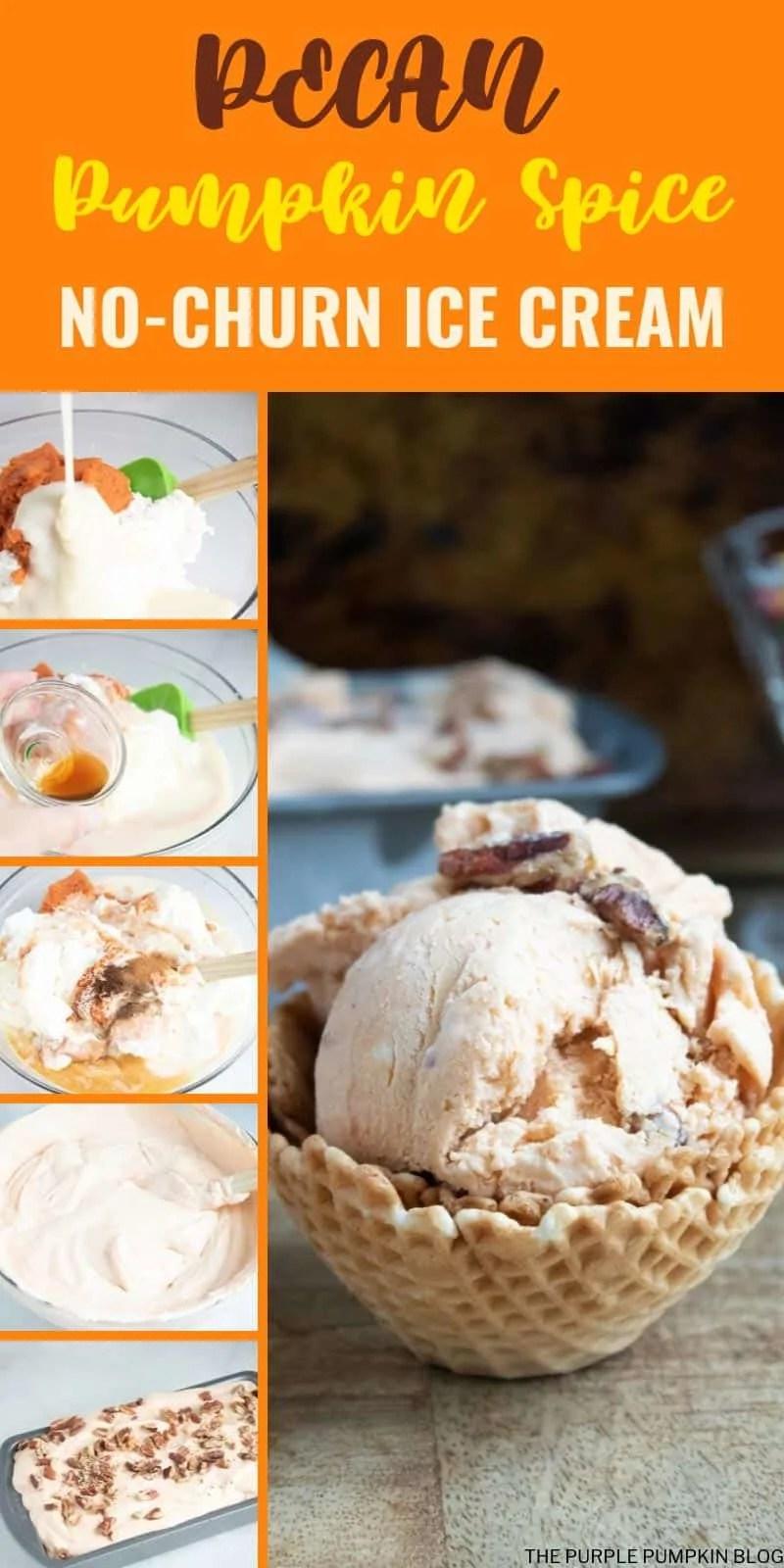 How to make Pecan Pumpkin Spice No-Churn Ice Cream