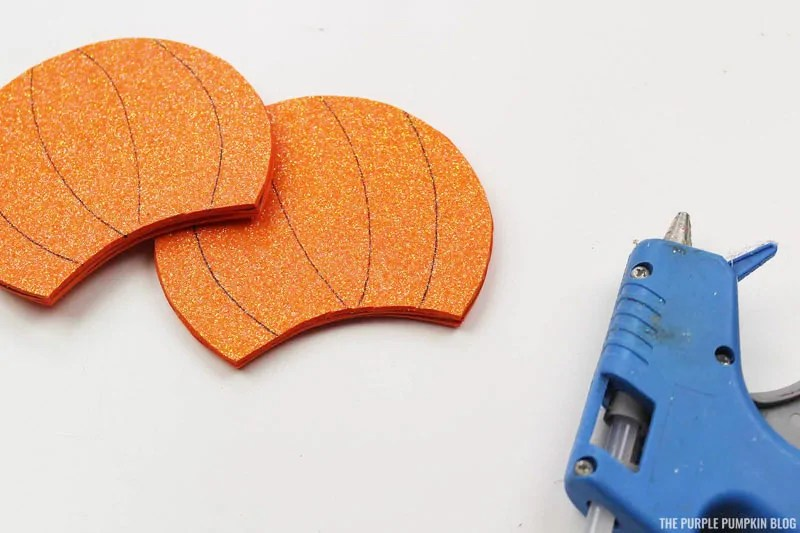 Sticking Pumpkin Head Pieces Together