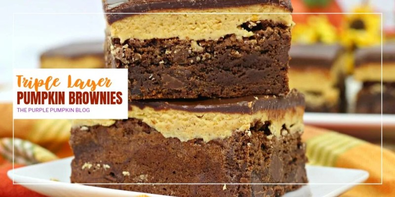 a stack of pumpkin brownies
