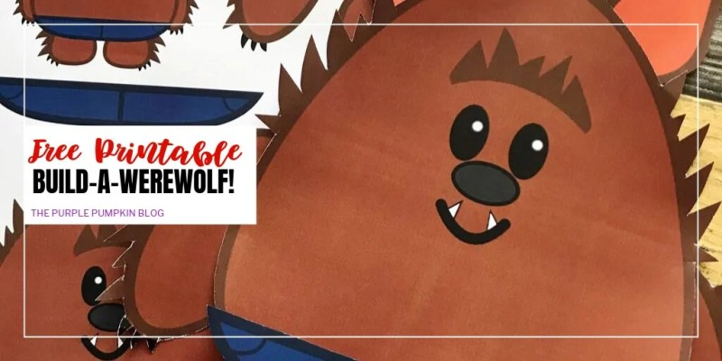 free printable build-a-werewolf