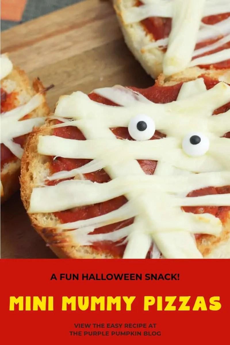 A fun halloween snack! mini mummy pizzas