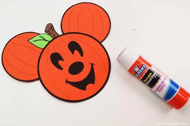 Assembled Pumpkin Head Mickey