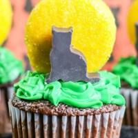 Full Moon & Black Cat Cupcakes