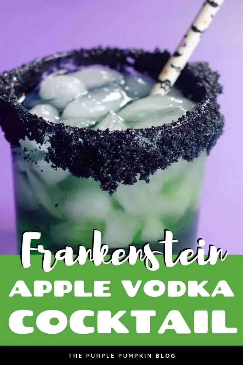 Frankenstein apple vodka cocktail
