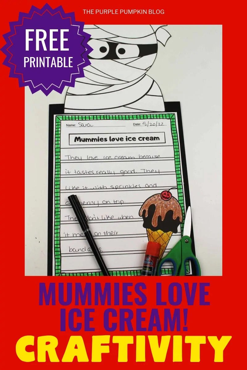 Craftivity - mummies love ice cream