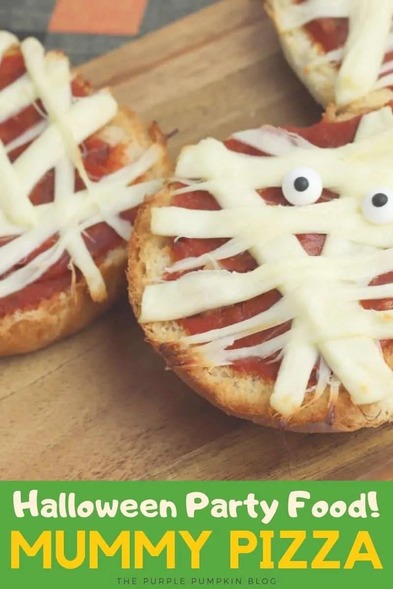 Halloween Party Food! Mummy Pizza