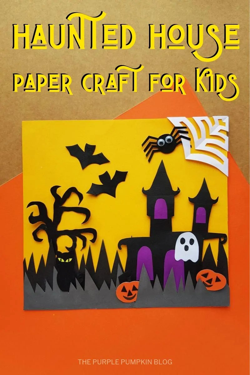 Haunted House Paper Craft for Kids