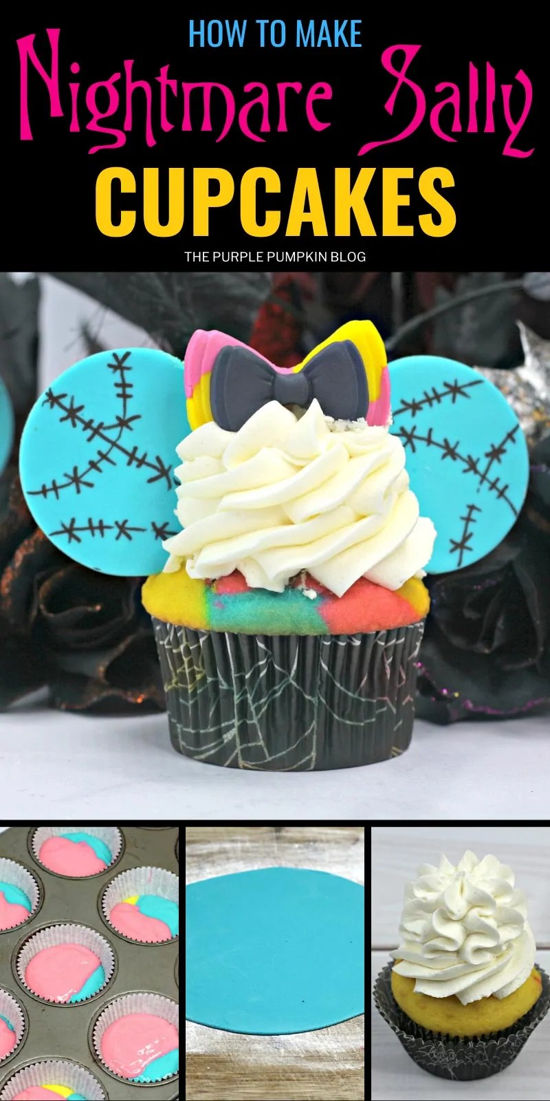 How to make Nightmare Sally Cupcakes