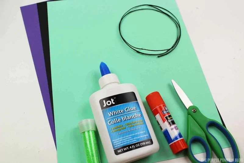 Materials & Tools for making paper Maleficent ornaments