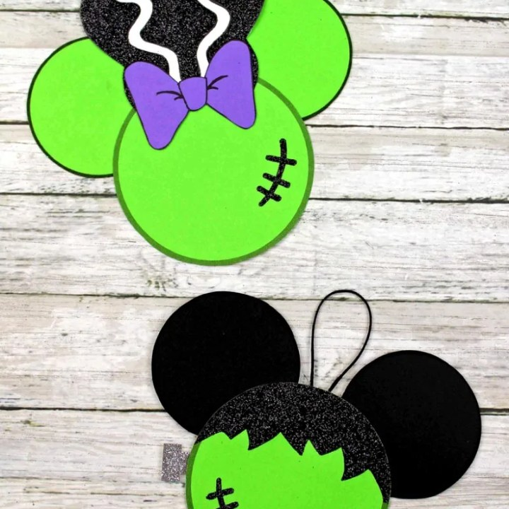 Frankenstein Mickey & Minnie Ornaments