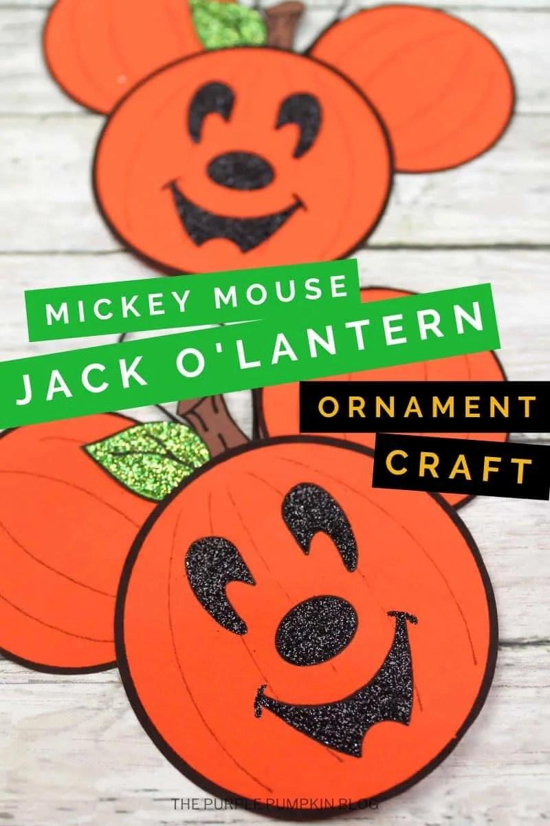 Mickey Mouse Jack o'Lantern Ornament Craft
