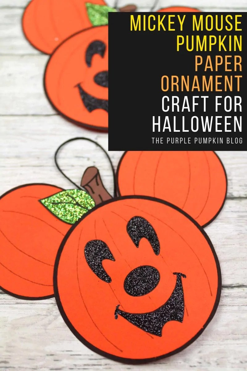 Mickey-Mouse-Pumpkin-Paper-Ornament-Craft-for-Halloween